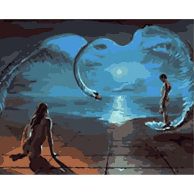 Kit pictura pe numere cu apa, NDTP-1521
