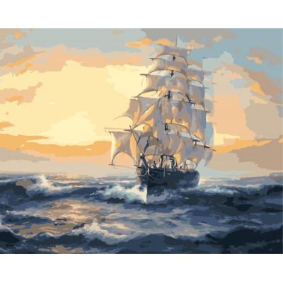 Kit pictura pe numere cu vapoare, NDTP-1538