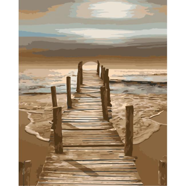 Kit pictura pe numere cu apa, NDTP-1694