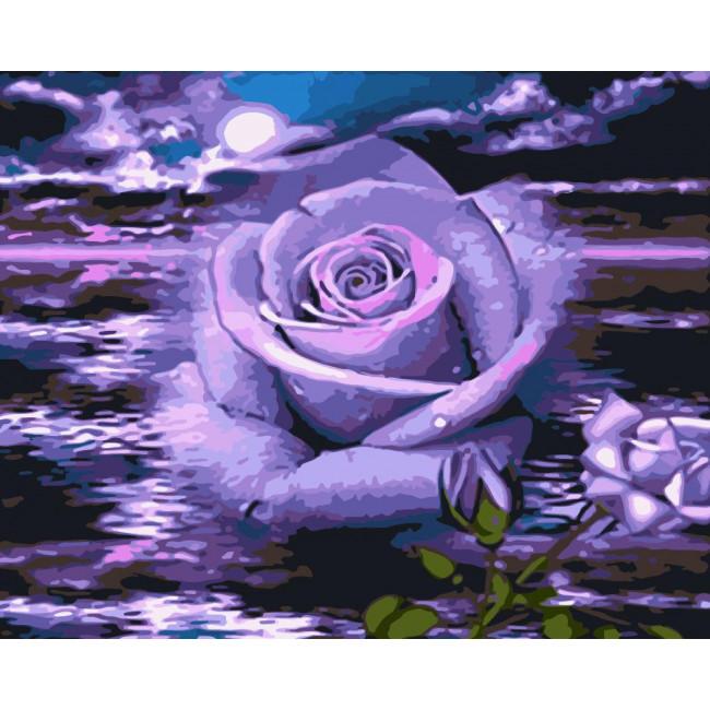 Kit pictura pe numere cu flori, NDTP-1830
