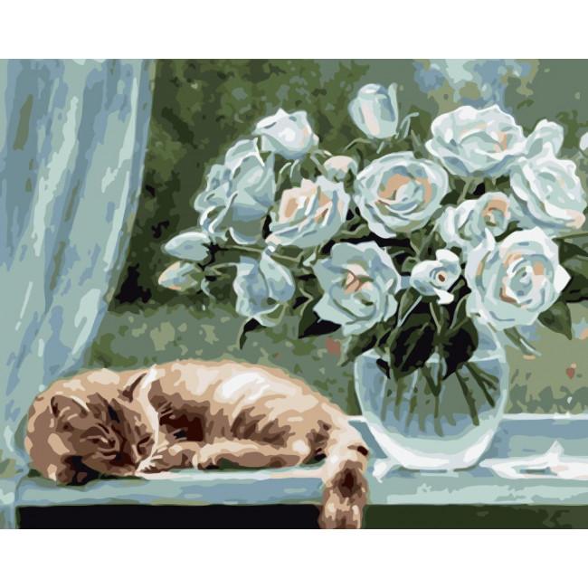 Kit pictura pe numere cu flori, NDTP-1851