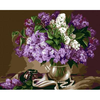 Kit pictura pe numere cu flori, NDTP-2104