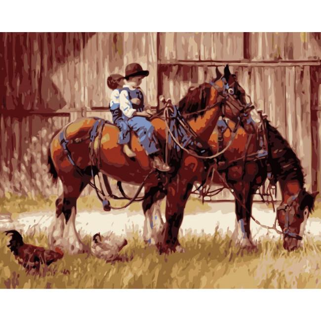 Kit pictura pe numere cu animale, NDTP-2399