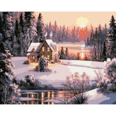Kit pictura pe numere cu iarna, NDTP-2417