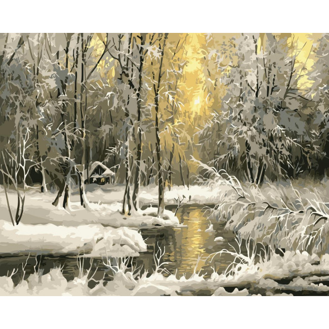 Kit pictura pe numere cu iarna, NDTP-2514