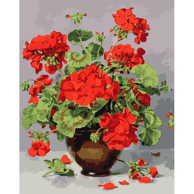 Kit pictura pe numere cu flori, NDTP-2880