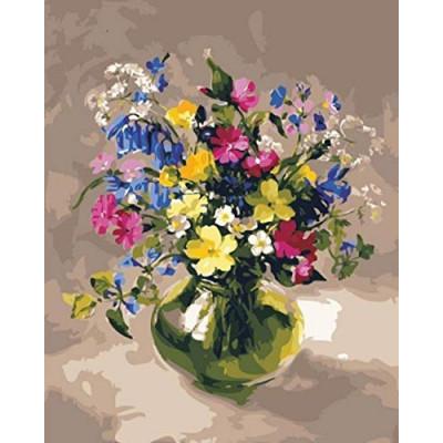 Kit pictura pe numere cu flori, NDTP-3162