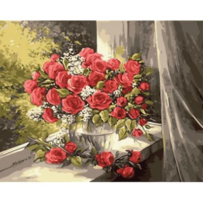 Kit pictura pe numere cu flori, NDTP-4063