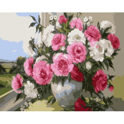 Kit pictura pe numere cu flori, NDTP-4184