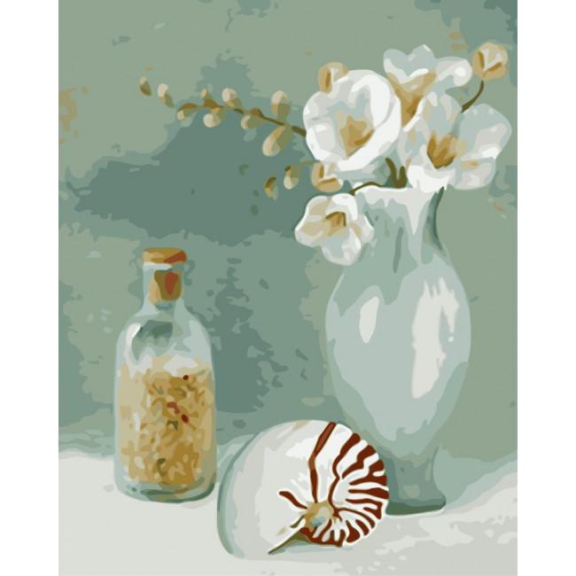 Kit pictura pe numere cu flori, NDTP-4320