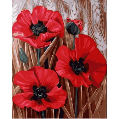 Kit pictura pe numere cu flori, NDTP-4350