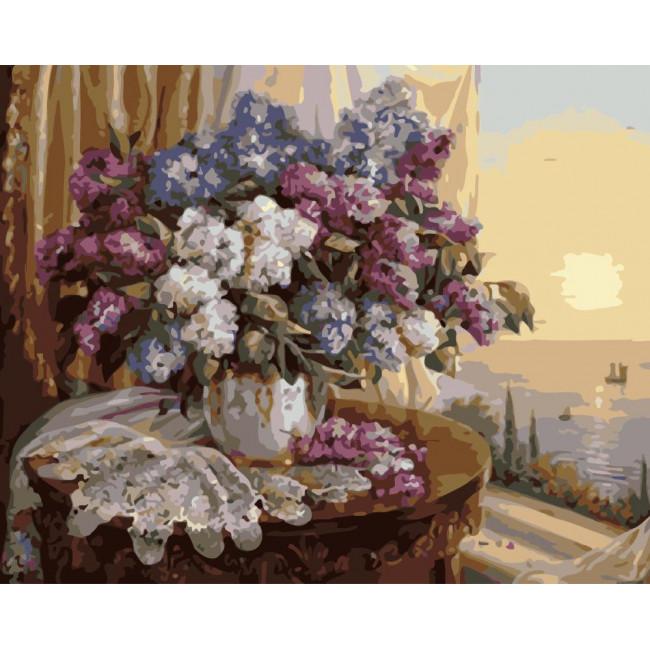 Kit pictura pe numere cu flori, NDTP-4383