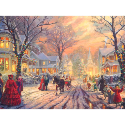 Kit pictura pe numere cu iarna, NDTP-4654