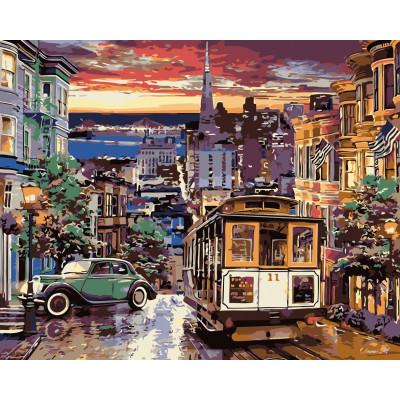 Kit pictura pe numere cu orase, NDTP-4658