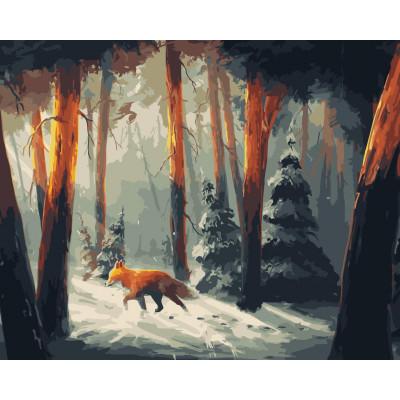 Kit pictura pe numere cu iarna, NDTP-469