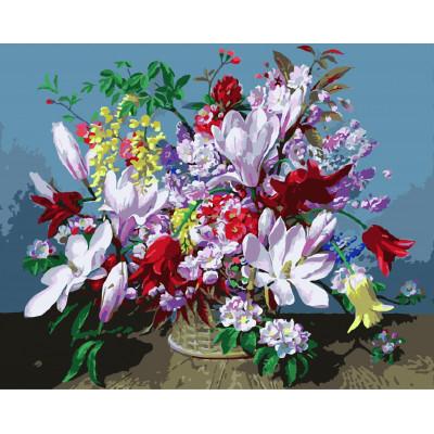 Kit pictura pe numere cu flori, NDTP-505