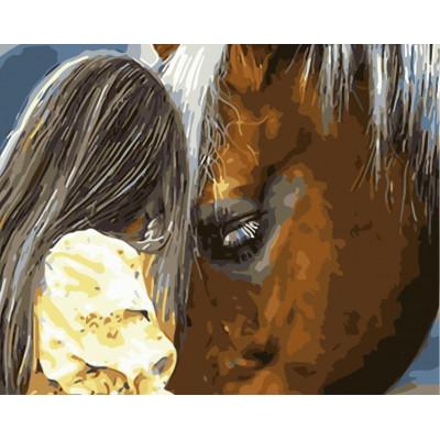 Kit pictura pe numere cu animale, NDTP-5078