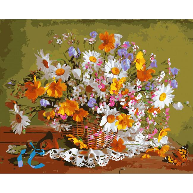 Kit pictura pe numere cu flori, NDTP-518