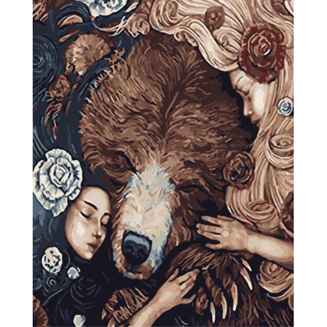 Kit pictura pe numere cu animale, NDTP-536
