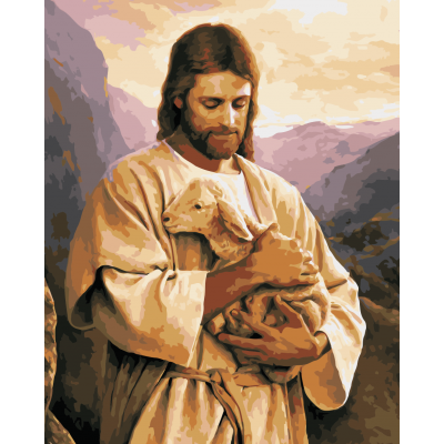 Kit pictura pe numere cu religioase, NDTP-743