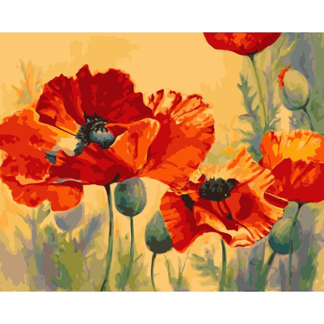 Kit pictura pe numere cu flori, NDTP-772