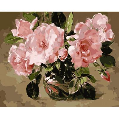 Kit pictura pe numere cu flori, NDTP-957