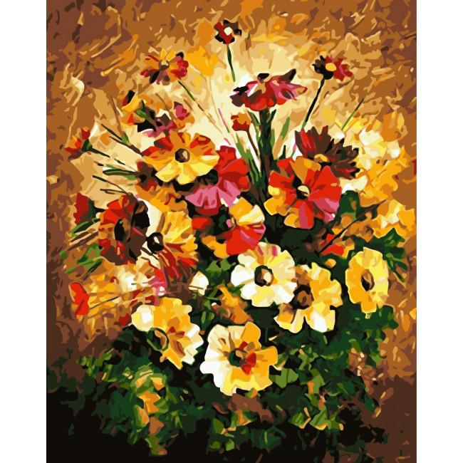 Kit pictura pe numere cu flori, NDTP-979