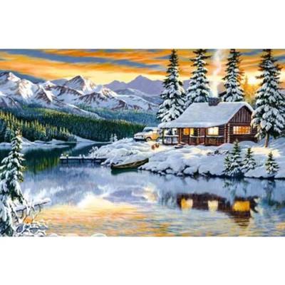 Kit pictura pe numere cu iarna, DTP4852