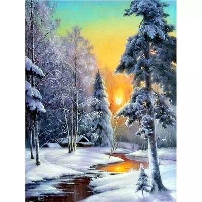 Kit pictura pe numere cu iarna, DZ4831