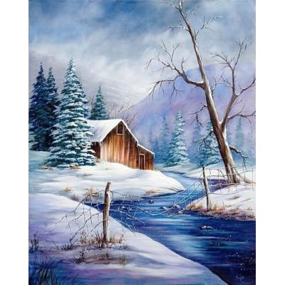 Kit pictura pe numere cu iarna, DZ4833