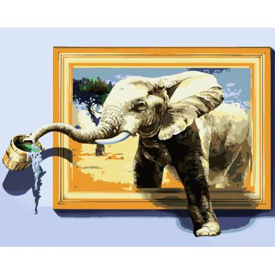 Kit pictura pe numere cu animale, NDTP-139