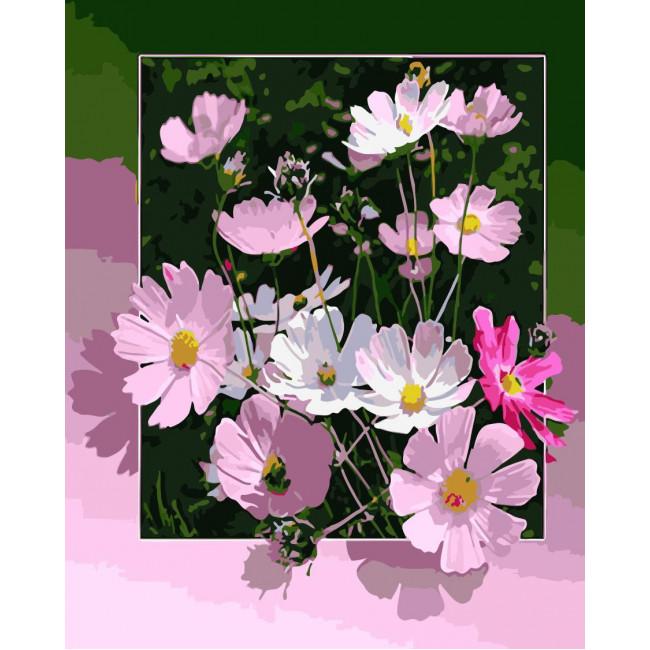 Kit pictura pe numere cu flori, NDTP-459