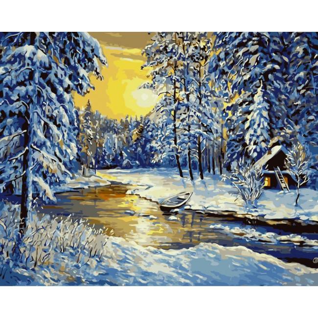 Kit pictura pe numere cu iarna, NDTP-072R