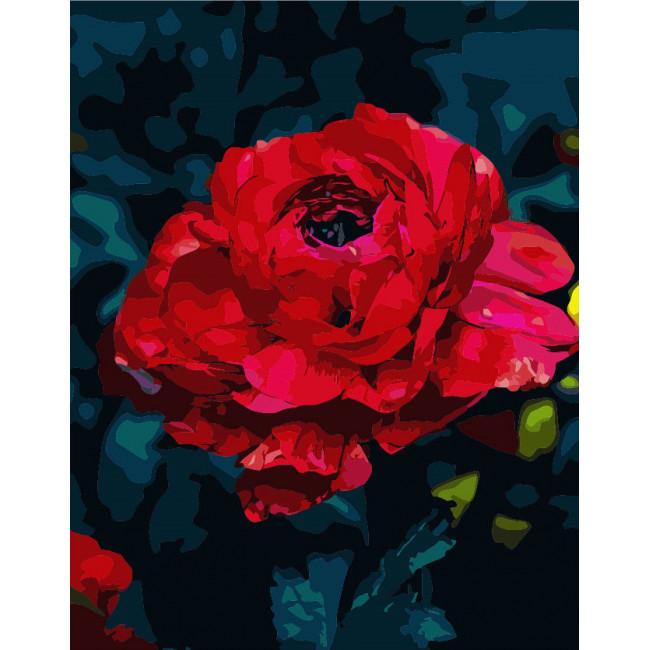 Kit pictura pe numere cu flori, NDTP-148