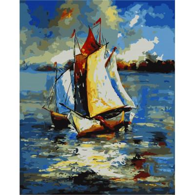 Kit pictura pe numere cu vapoare, NDTP-307