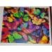 Kit pictura pe numere cu fluturi, Rainbow