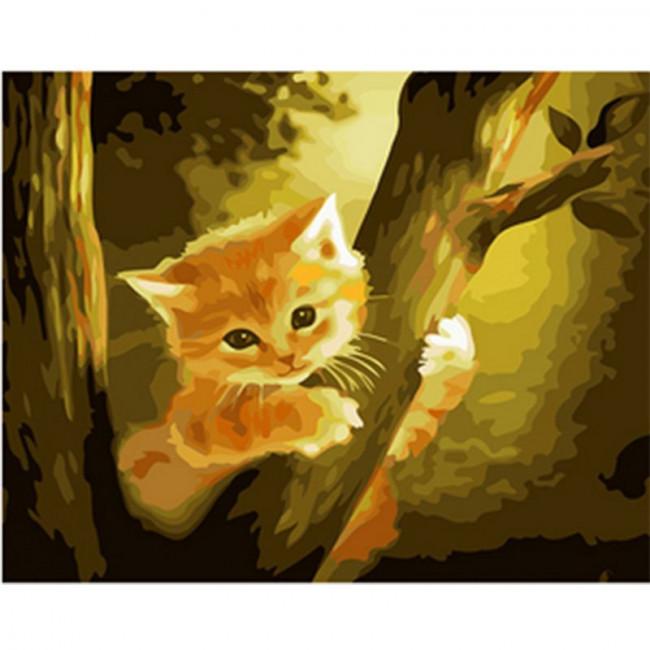 Kit pictura pe numere cu animale, DZ366