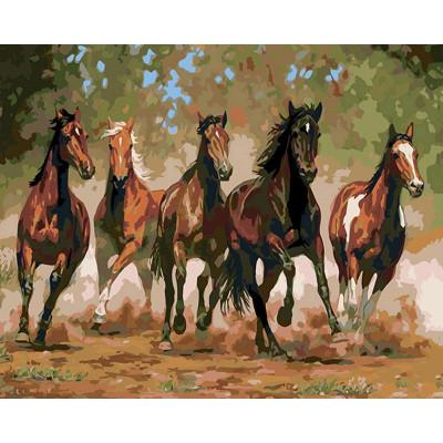Kit pictura pe numere cu animale, DTP497