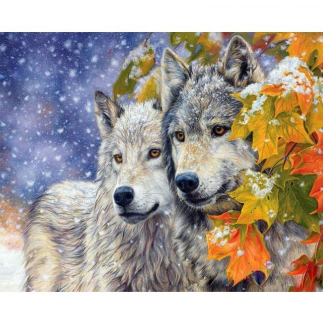 Kit pictura pe numere cu animale, DTP1075