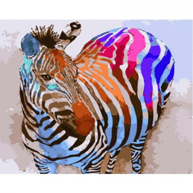 Kit pictura pe numere cu animale, DTP1168