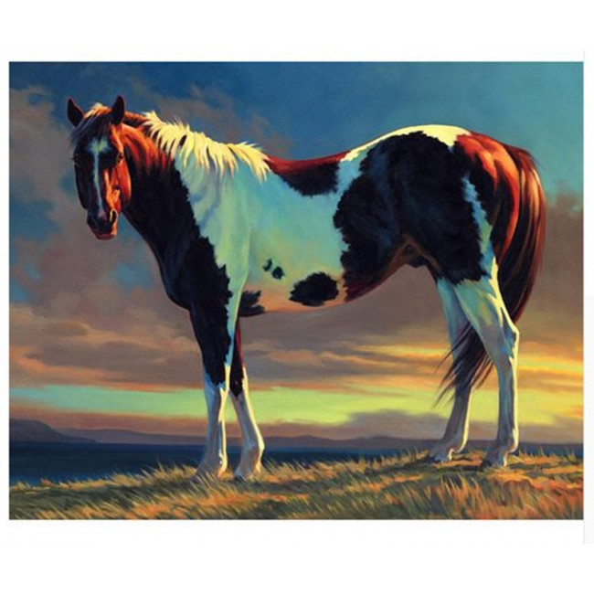 Kit pictura pe numere cu animale, DTP1750