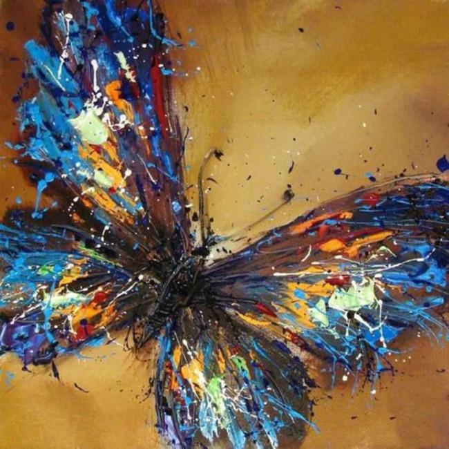 Kit pictura pe numere cu fluturi, DTP2223