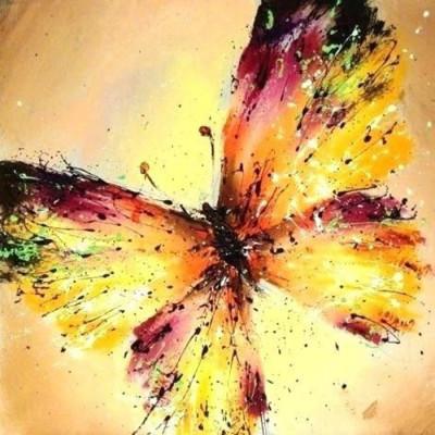 Kit pictura pe numere cu fluturi, DTP2857