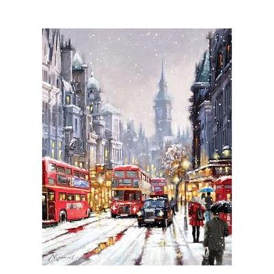 Kit pictura pe numere cu iarna, DTP2863