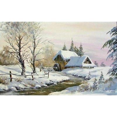 Kit pictura pe numere cu iarna, DTP2865