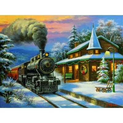 Kit pictura pe numere cu iarna, DZ2116