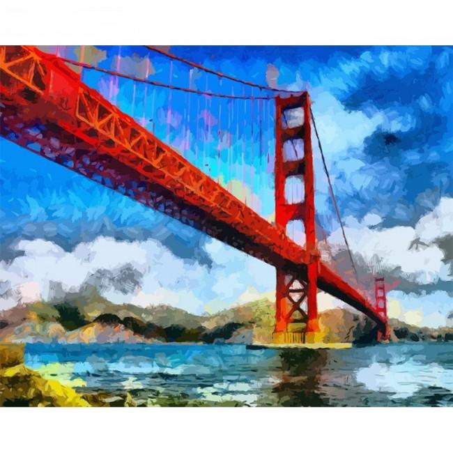 Kit pictura pe numere cu peisaje, DTP2502