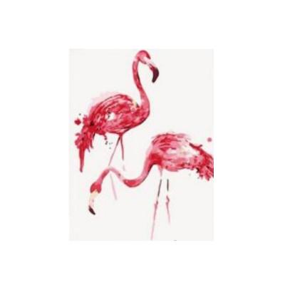 Kit pictura pe numere cu diverse, Pink Flamingos