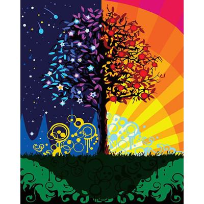 Kit pictura pe numere cu diverse - Magic Tree