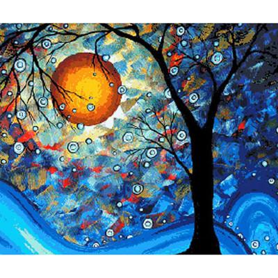 Kit pictura pe numere cu diverse, Moon Tree